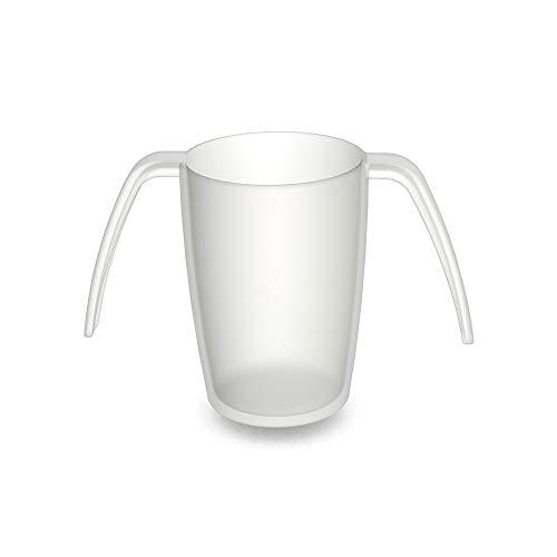 Ornamin 2-Henkel-Becher 220 ml natur (Modell 816) / Spezial-Trinkhilfe, Pflege-Becher, Tremor-Becher, Kunststoffbecher