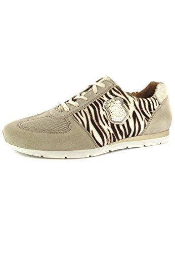 Gabor Sneaker Schnürschuh comfort beige zebra metallic, Farbe:beige;Größe:41