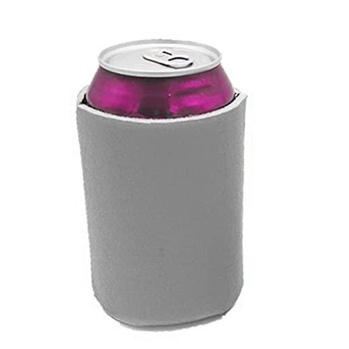 UxradG Fundas para enfriadores de latas de cerveza en blanco, fundas aisladas para botellas de cerveza y agua (gris, 50 unidades)