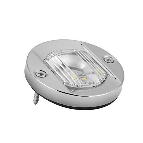 Luce di navigazione di poppa, Fydun Luce di navigazione 12V Transom per barche Marine a LED bianca in acciaio inossidabile impermeabile