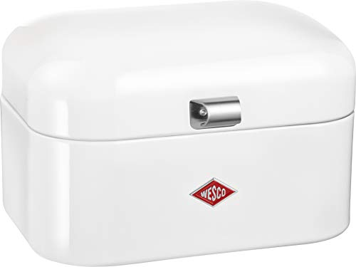 Wesco Single Grandy – German Designed - Steel bread box for kitchen / storage container, White