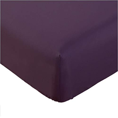 Mellanni Fitted Sheet Full Purple Brushed Microfiber 1800 Bedding - Wrinkle, Fade, Stain Resistant - Hypoallergenic - (Full, Purple)