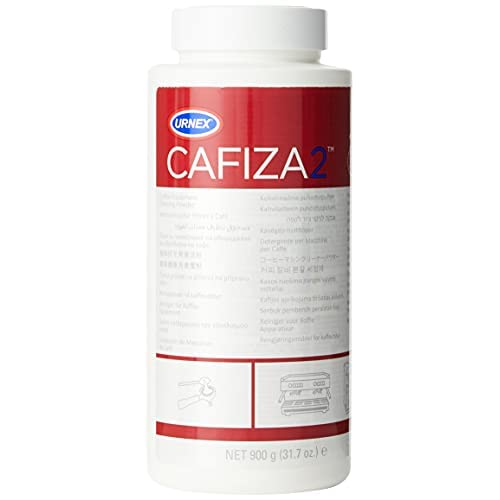 Urnex - Polvere detergente Cafiza 2 per macchine da caffè, 900 g
