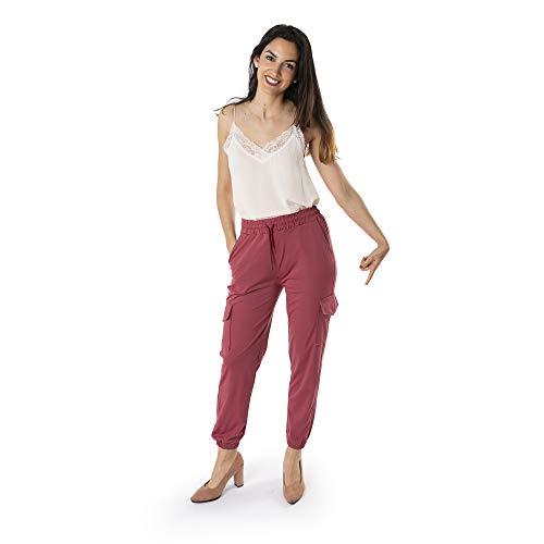 Trendcool. Pantalones Mujer. Pantalones Anchos Mujer. Pantalones Elegantes Mujer. Pantalon Mujer Jogger. (M19, M)