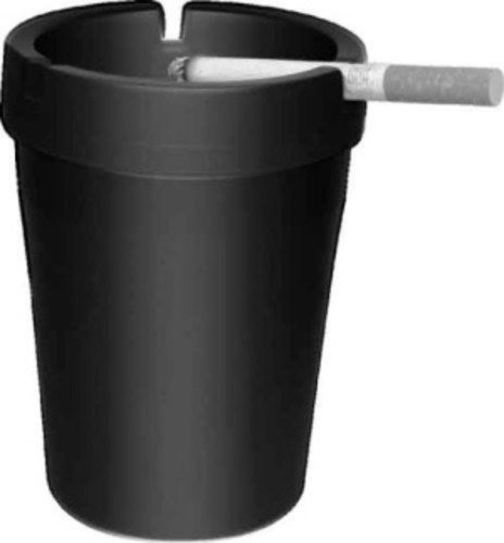 CigarExtras 582130 Black Stub Out Glow in The Dark Cup-Style Self-Extinguishing Cigarette Ashtray, 11 Pack
