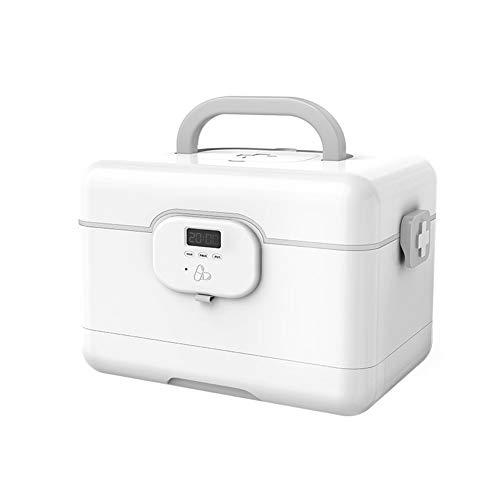 NAFE Opbergdoos draagbare EHBO-kit, home emergency kit die kan worden herinnerd door slimme wekker, medicijncontainer EHBO-medicijnkastje voor thuiskantoor