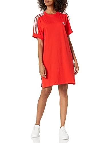 adidas Originals Women's Tee Dress, Red, Medium