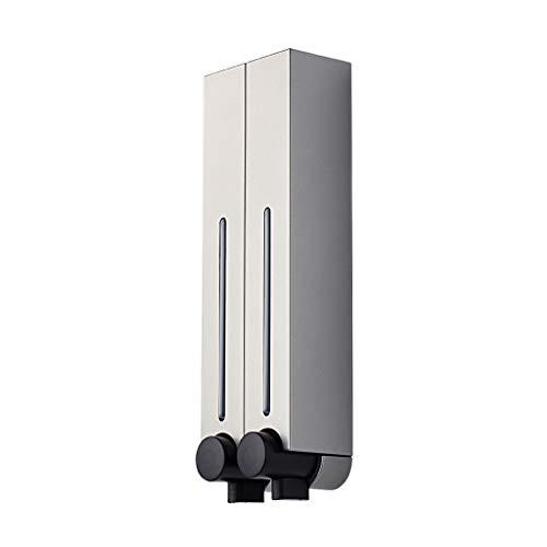 OMIDM Dispensador de jabón Dispensador de jabón montado en la Pared 250ML / 500ML Manual del baño del Hotel sin Perforaciones Dispensador de jabón de Cocina (Color : Silver, Size : 500ml-2PACK)
