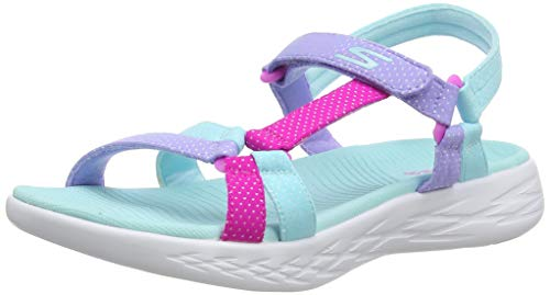 Skechers girls CASUAL,Aqua,5 M US