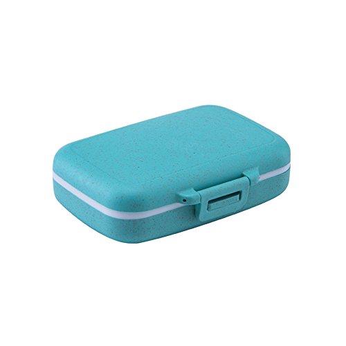 Mini pillendoos uitneembare mini-pillendoosjes met cijfers, draagbare mini-pillen, in kleine reisdoos, 11 * 6.3 * 3.5 cm, Kleur: zwart/bruin,