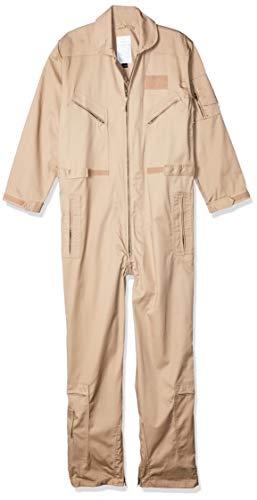 TRU-SPEC Men's 27-P Basic Flight Suit, Khaki, Medium Regular