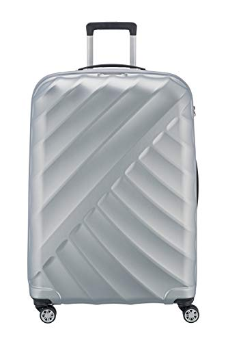 """TITAN """"SHOOTING STAR"""" von TITAN®: Robuste Hartschalen-Trolleys in coolem Metallic-Look in 4 Trendfarben Koffer, 77 cm, 109L, Silver"""