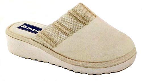 inblu Pantofole Ciabatte Invernali da Donna Art. CI-74 Ghiaccio (40 EU)