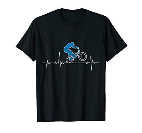 BMX Fahrrad Stunt Heartbeat - BMX Radfahrer Geschenk T-Shirt