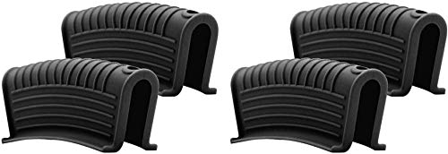 Hot Skillet - Set di 2 paia di maniglie in silicone, a prova di scottatura, con presa termica per pentole e padelle, in ghisa, wok, padelle, padelle da forno (nero)