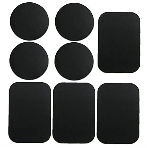 Teléfono Placas de metal Metal Placas de montaje Placas Pegatina Reemplazar para soporte de teléfono de montaje en automóvil Accesorios de teléfono móvil negro