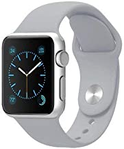 Silicone Sport Band Compatible with Apple Watch 38mm 40mm 42mm 44mm (Gray, 42mm/44mm -M/L)