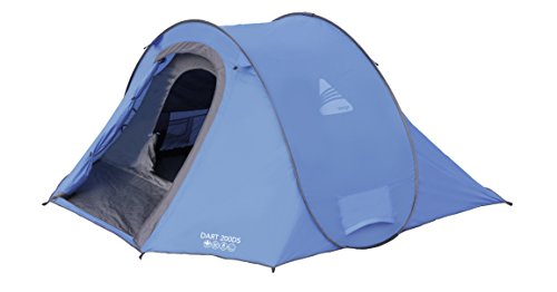 Vango Waterproof Dart 200DS Outdoor Dome Tent available in Blue - 2 Persons