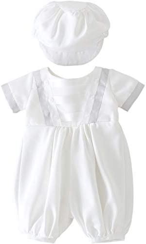 Glamulice Infant Baby Boy Christening Baptism Outfit Christening Romper Baptism Clothes 3M 0 product image