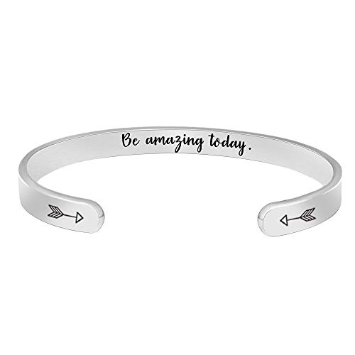 BTYSUN Birthday Gifts for Women Inspirational Bracelets for Her Girls Men Motivational Cuff Bangle...
