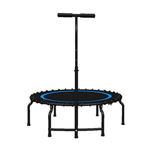 GCZZYMX Colchoneta de salto Rebounder Bouncer Sistema de cuerda elástica Trampolín portátil y plegable Trampolín para adultos - Mini reboteador en el hogar con pasamanos ajustable, Trampolín de ejer