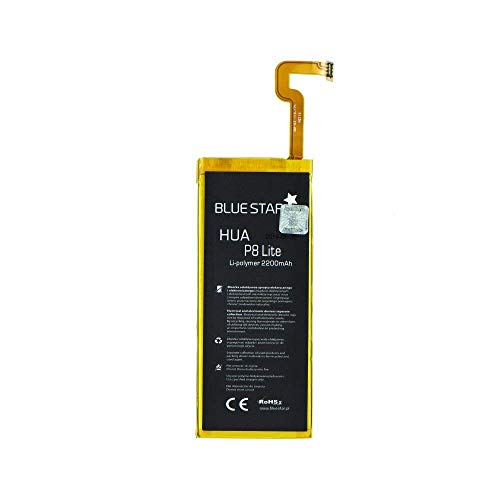 Bluestar Akku Ersatz kompatibel mit Huawei P8 Lite ALE-L21 2200 mAh Austausch Batterie Handy Accu HB3742A0EZC