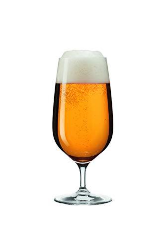 Leonardo Tivoli 066395 - Bicchieri da birra con manico seghettato, lavabili in lavastoviglie, set da 6 pezzi, 400 ml
