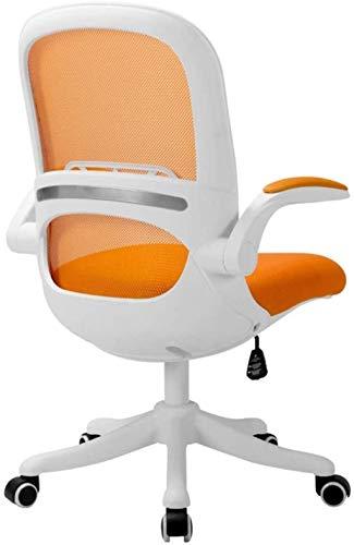 Sillas de Oficina Silla de Juego Silla de Oficina Silla de Oficina Transpirable Malla de Escritorio Altura Babadón Plegable Plástico (Color : Orange)