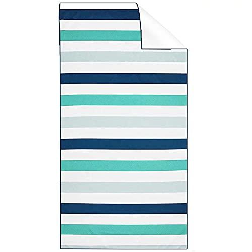 Smilsiny - Asciugamano da spiaggia, in microfibra, a grana grossa, può essere riposto, leggero, ad asciugatura rapida, ideale per la spiaggia, 180 x 80 cm, multi24