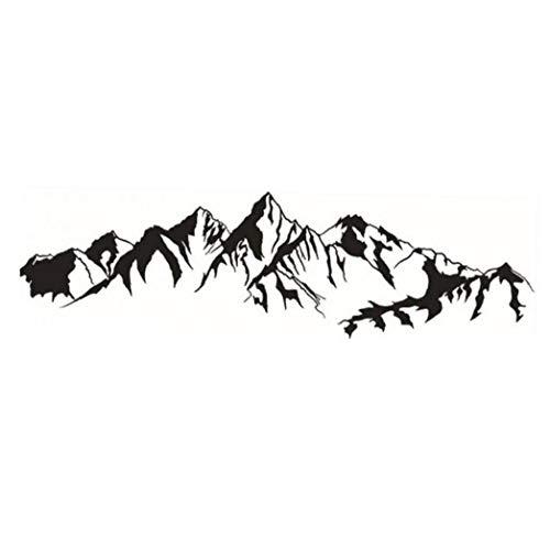 PiniceCore Cordillera De La Pared Pegatinas De Vinilo Murales Arte Decoraciones para Hogar Puerta a Prueba De Agua Pegatinas De Naturaleza Ver Adhesivos De Pared