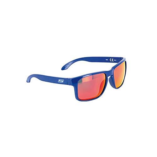 S-LINE Gafas de Sol Azules - Cristales de Espejo Dorado/Reflectante Rojo Cat....