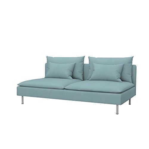 Soferia Funda de Repuesto para IKEA SÖDERHAMN sofá Cama, Tela Eco Leather Mint, Verde