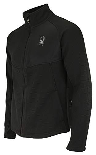 Spyder Men's Heath Color Block Full Zip Sweater, Black X-Large