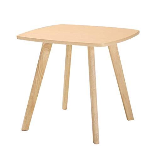 ZHANGYY Mesas auxiliares para sillas, Mesa Nido Cuadrada de Madera, sofá Lateral, Mesa de Esquina, Soporte para lámpara, Muebles para el hogar, Oficina, Natural (tamaño: D57H45CM)