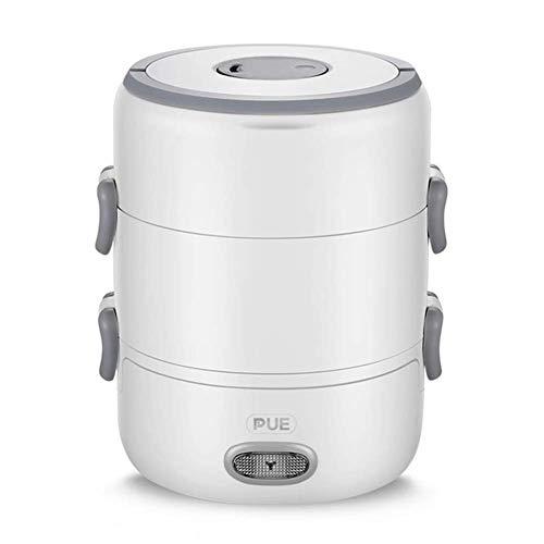 lunch box Frasco de Alimentos multifunción portátil de cerámica termostático a Prueba de Fugas Mini Frasco de Comida eléctrico,para el Empleado de Oficina Caja de Almuerzo de Aislamiento calentado.