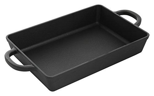 Crock Pot 13 Inch Preseasoned Cast Iron Rectangular Lasagna Pan