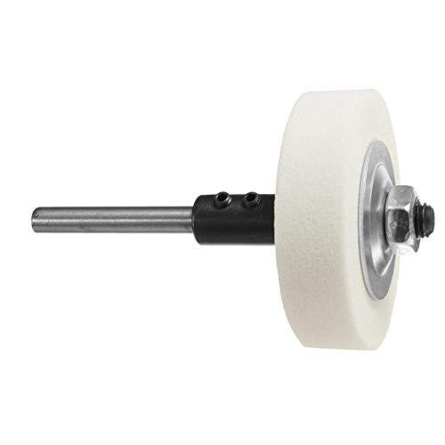 Doolland, Schleifscheiben-Adapter-Set, verwandelt eine elektrische Bohrmaschine in eine Schleifmaschine, 70 x 20 x 10 mm, weiß