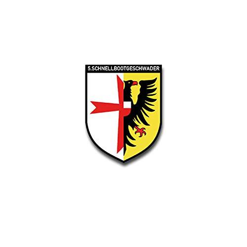 5 Schnellbootgeschwader Marine Bundesmarine Bundeswehr Wappen 7x5cm#A4327