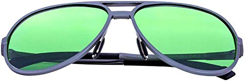 Happy Hydro LED Grow Room Glasses | Polarized Lenses | UVA + UVB + UVC Blocking | Aviator Style with Protective Case