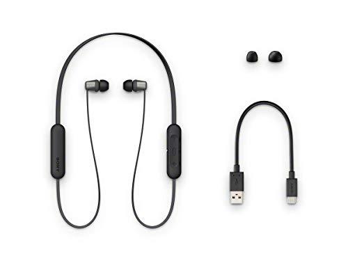 Sony WI-C310 Bluetooth Wireless In-Ear Kopfhörer mit Mikrofon / Fernbedienung, Schwarz (Renewed)