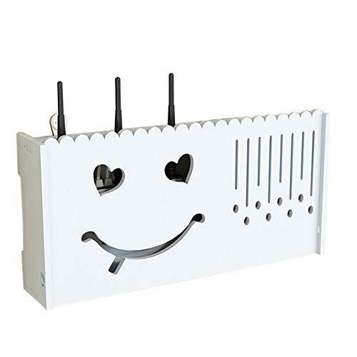 Preisvergleich Produktbild WLAN Router Set Top Box Regal Wandmontage Schwimmrahmen Lagerregal Großes Lächeln,  20.47 * 3.93 * 9.84 Zoll