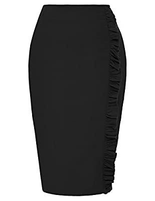 Kate Kasin Stretchy Pencil Skirts for Women Knee Length