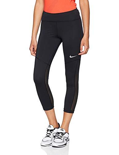 Nike Damen Fly Victory Crop 3/4 Trainings-Tights, Black/White, M