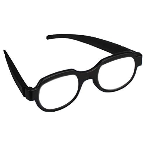 KingbeefLIU Brillen Mode Männer Frauen LED Licht Leuchtbrillen Brillen Anime Cosplay Party Prop Weiß