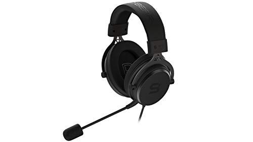 SPC Gear VIRO Plus Gaming Kopfhörer mit abnehmbarem Mikrofon und USB 7.1 Soundkarte (3,5 mm Klinke, 270 cm und 120 cm Kabel mit Lautstärkeregler), SPG046