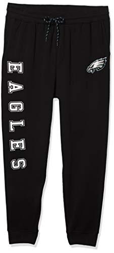 Ultra Game NFL Philadelphia Eagles Mens Jogger Pants Active Basic Fleece Sweatpants, Team Color, Large