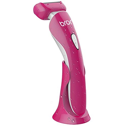 Brori Electric Razor for Women - Womens Shaver Bikini Trimmer Body Hair Removal for Legs and Underarms Rechargeable Wet and Dry Painless Cordless with...