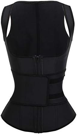 FeelinGirl Women s 9 Steel Boned Latex Waist Trainer Vest Underbust Cincher Corset Black L product image