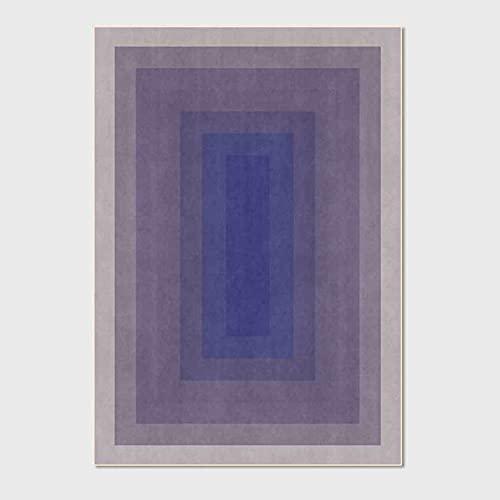 Alfombra De Área De Diseño Degradado Alfombras De Sala De Estar Alfombra Lavable Antideslizante para Sala De Estar Sofá De Dormitorio Mesa De Centro para Niños,Azul,40x60cm(16x24inch)