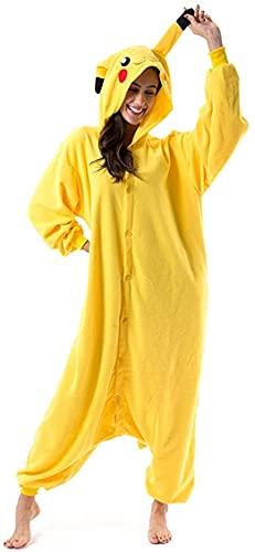 Frau Pokemon Pikachu Schlafanzug Erwachsene Anime Cosplay Halloween Kostüm Kleidung XL Pikachu